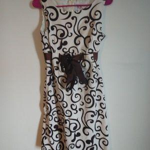 3/$15 R&K spring dress brown design size 8